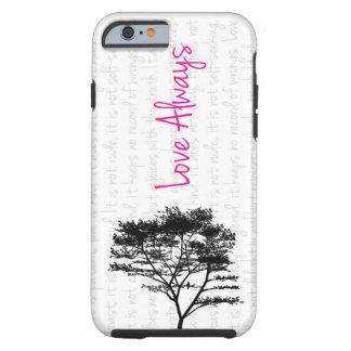 För kärlek fågel alltid - i träd tough iPhone 6 skal