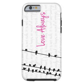 För kärlek fåglar alltid - på en fodra tough iPhone 6 skal