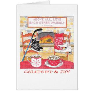 För kärlek julkort varmt hälsningskort