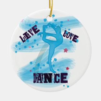 För kärlekdans för anpassningsbar levande dansare julgransprydnad keramik