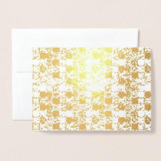 För kärleken av att ge sig - guld omkullkastar folierat kort