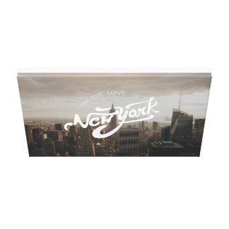 För kärleken av New York | den typografiska Canvastryck