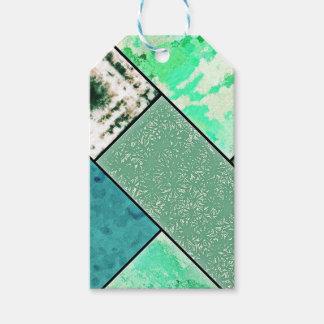 För kärleken - grön mosaik presentetikett