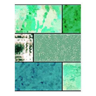 För kärleken - grön mosaik vykort