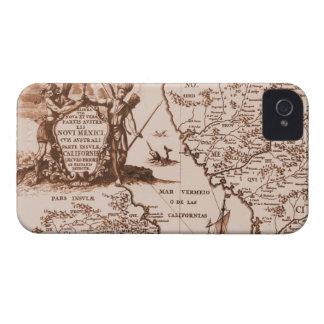 För kartablackberry bold för vintage historiskt iPhone 4 cover