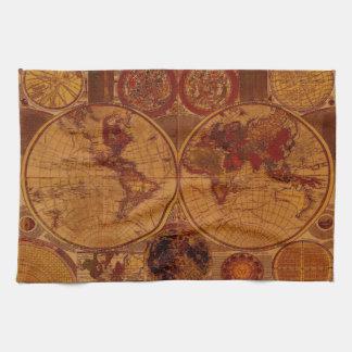För kartaTea för gammal värld handdukar