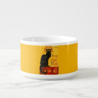 För kattart nouveau för vintage svart chatta Noir