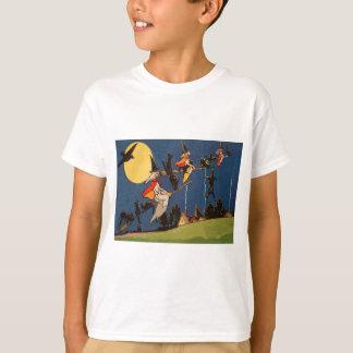 För kattflyg för häxa svart kråka för måne tröjor