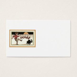 För kattfullmåne för pojke svart staket visitkort