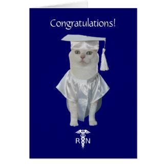 För kattsjukvård för anpassade rolig studenten hälsningskort