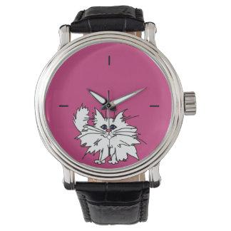 För kattungevintage för shock rosa kvick klocka