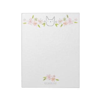 För kattXL för Chrysanthemum trädgårds- Anteckningsblock