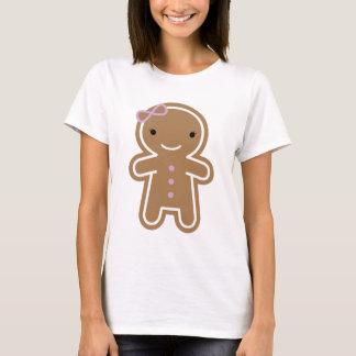 För Kawaii för kaka gullig flicka pepparkaka T Shirt