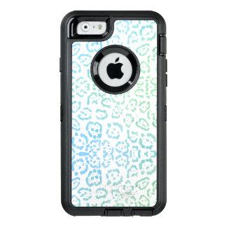 För Kawaii för MintblåttLeopard pastellfärgad OtterBox Defender iPhone Skal