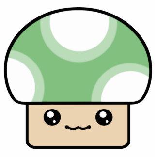 För Kawaii för Mushy Puffs grön prydnad champinjon Acrylic Cut Out