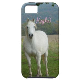 För Kayla för vithästpersonlig fodral iPhone 5 iPhone 5 Case-Mate Skydd