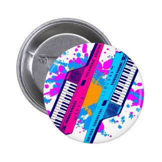 För Keytar för Corey tiger80-tal Retro Splatter ne Nål
