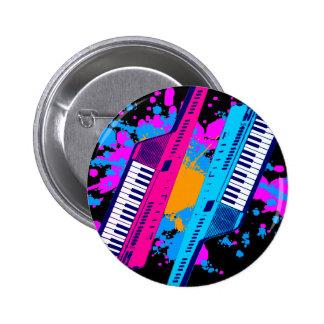 För Keytar för Corey tiger80-tal Retro Splatter ne Knappar Med Nål