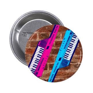 För Keytar för Corey tiger80-tal Retro vägg tegels Knappar
