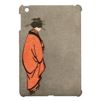 För Kimonokvinna för vintage som japansk orange bo iPad Mini Mobil Fodral