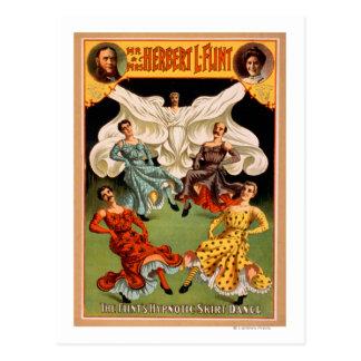 För kjoldans för flintor den hypnotiska scenisken vykort