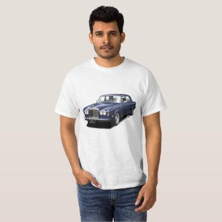 För klassikerbil för midnatta blått rullande t shirt