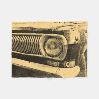 För klassikerbil för vintage gammal billykta fleecefilt