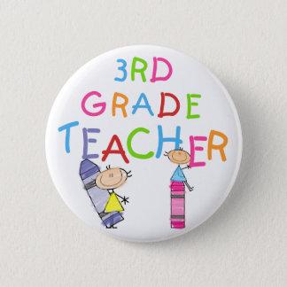 För klasslärare för kritor 3rd Tshirts och gåvor Standard Knapp Rund 5.7 Cm