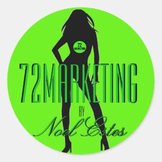för klistermärkeflickor för logotyp 72marketing runt klistermärke