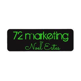 för klistermärkeneon för etikett 72marketing returadress etikett