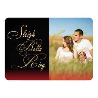För Klockor för Santa julSleigh snöflingor ring 12,7 X 17,8 Cm Inbjudningskort