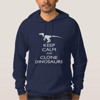För klonDinosaurs för behålla lugna T-tröja Hoodie