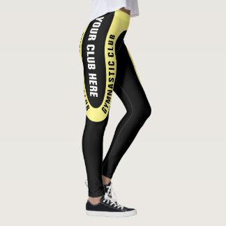 För klubbdamasker för anpassade gymnastisk version leggings