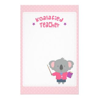 För Koalabjörn för gullig vits humoristisk lärare Brevpapper