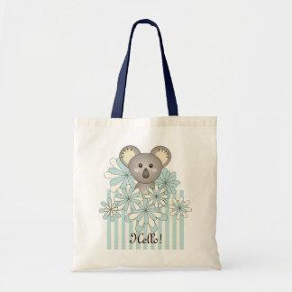 För Koalapersonlig för pastellfärgade blått Tygkasse