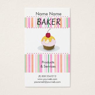 För kockmatlagning för bageri läcker gullig set av standard visitkort