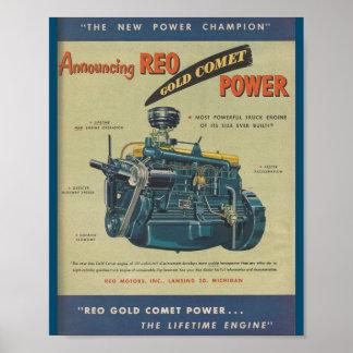 För kometlastbil för 1949 REO MOTORISK annons för Poster