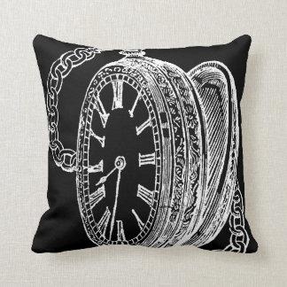 För konstdesign för vintage antikt tryck på kudde