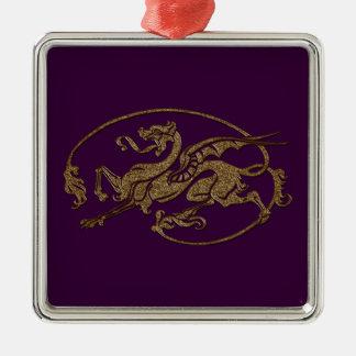 För konstformgivare för medeltida drake antik gåva julgransprydnad metall