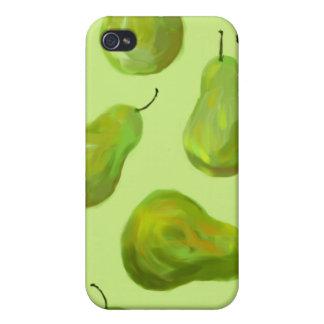 För konstiPhone 4 för gröna Pears original- fodral iPhone 4 Fodral