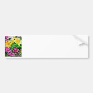 För konstzinnia för sommar trädgårds- lilja bildekal