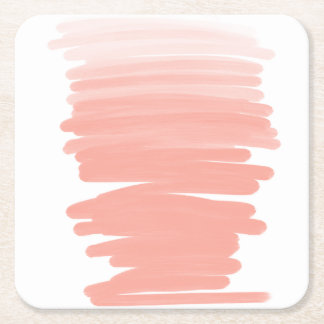 För korallombre för modern akryl rosa penseldrag underlägg papper kvadrat