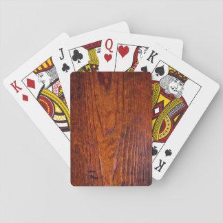 För kornfoto för vintage Wood natt för poker Kortlek