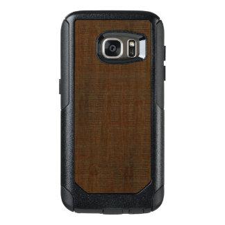 För kornstruktur för lantlig bambu Wood Look OtterBox Samsung Galaxy S7 Skal