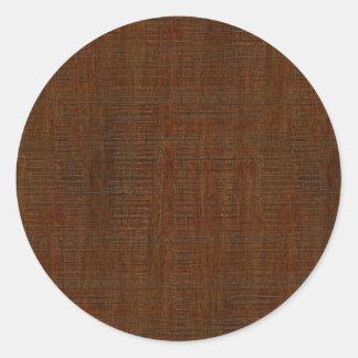 För kornstruktur för lantlig bambu Wood Look Runt Klistermärke