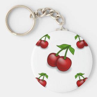 För körsbär design Galore Rund Nyckelring