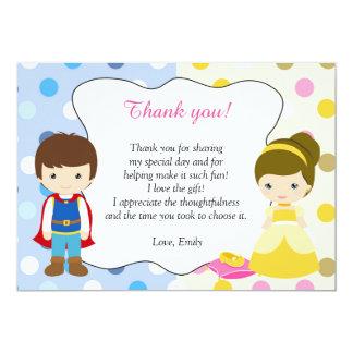 För kortbarns födelsedag för Prince Princess tack 12,7 X 17,8 Cm Inbjudningskort