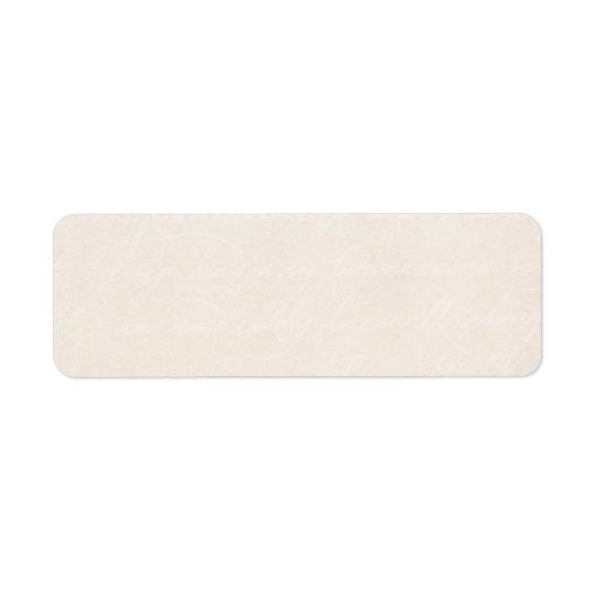 För kräm- gammal papper bakgrund ParchmentLook för Returadress Etikett
