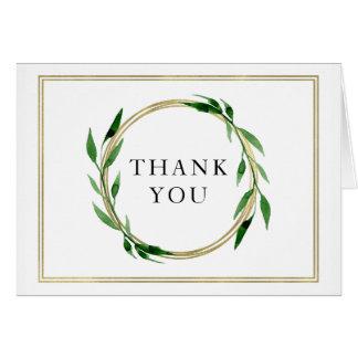 För kranbröllop för Faux guld- kort för tack