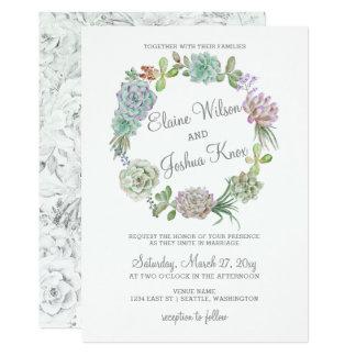 För kranbröllop för lantlig öken suckulent